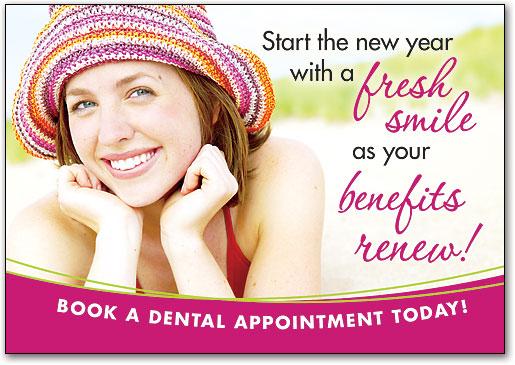 post card dental car partients example